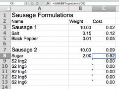 Sausage Formulation Spreadsheet   Niche Meat Processor