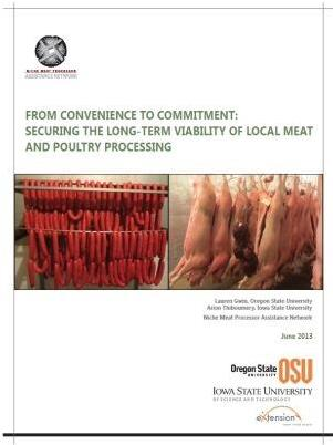 From Convenience to Commitment: Securing the Long-Term Viability of Local Meat and Poultry Processing